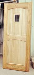 elm wood door set