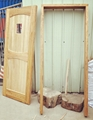 elm wood door set