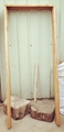 solid elm wood door set