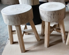 stool, camphor wood top,elmwood legs