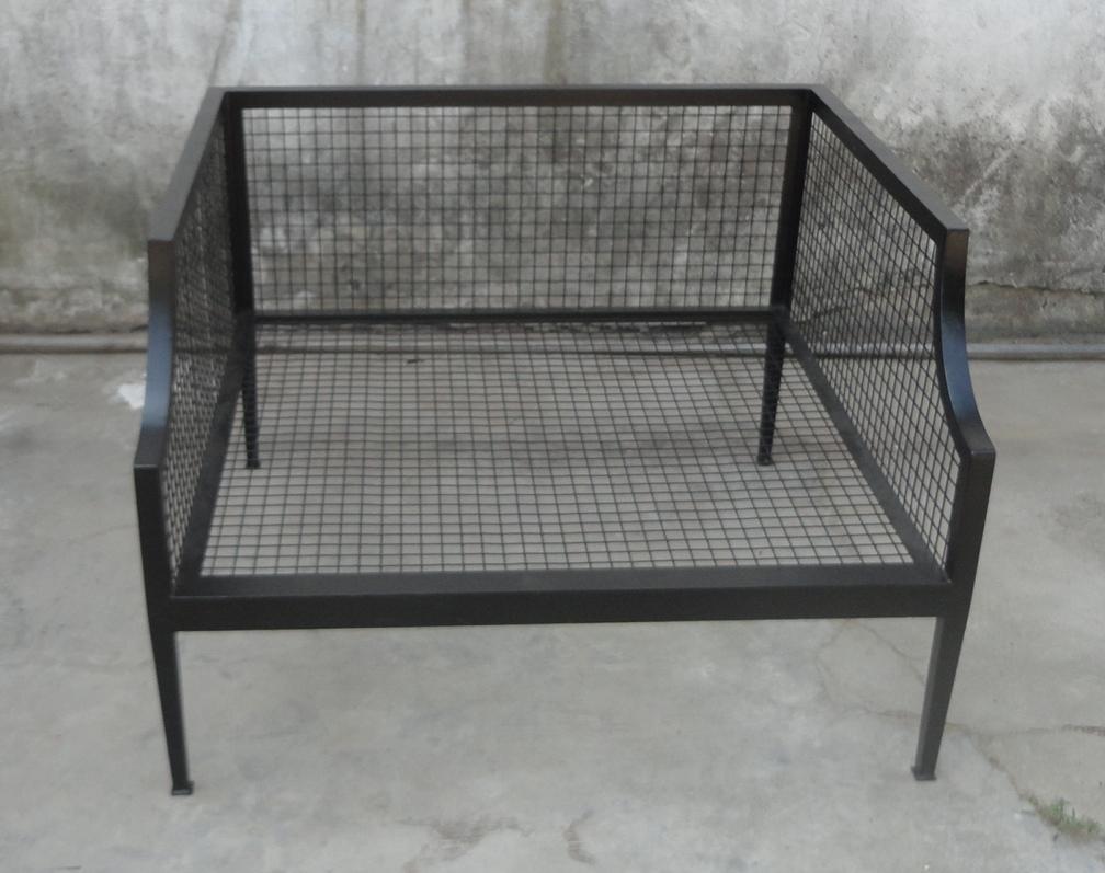 休闲单人位铁沙发椅,户外铁沙发椅 1