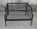 休闲单人位铁沙发椅,户外铁沙发