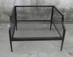 休閑單人位鐵沙發椅,戶外鐵沙發椅