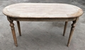 ash wood dining table, oval shape