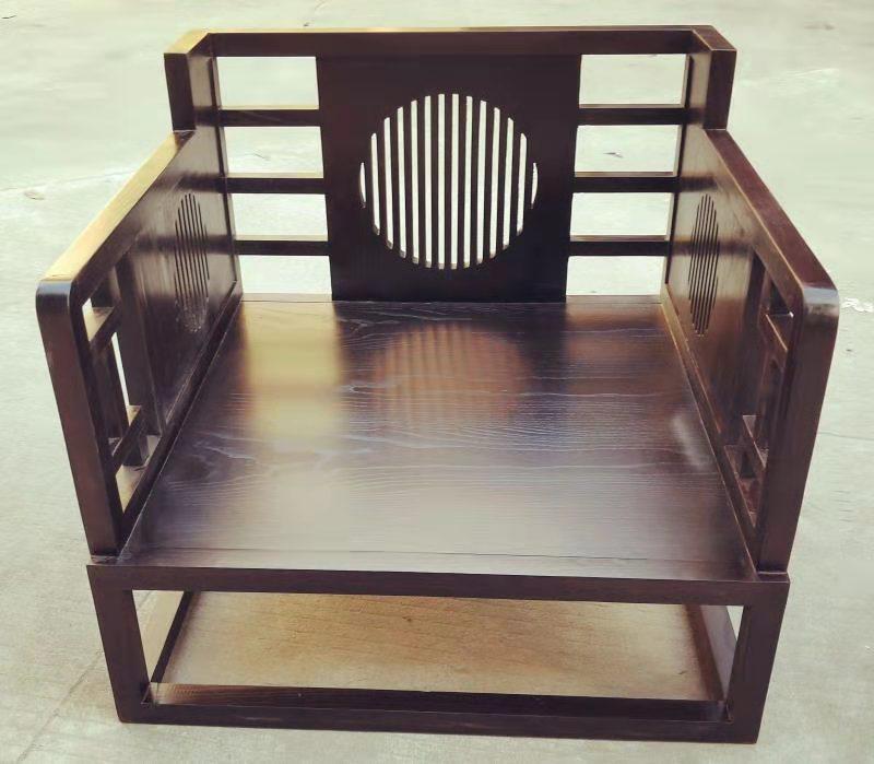 新中式單人沙發,帶座墊 1