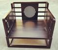 新中式單人沙發,帶座墊
