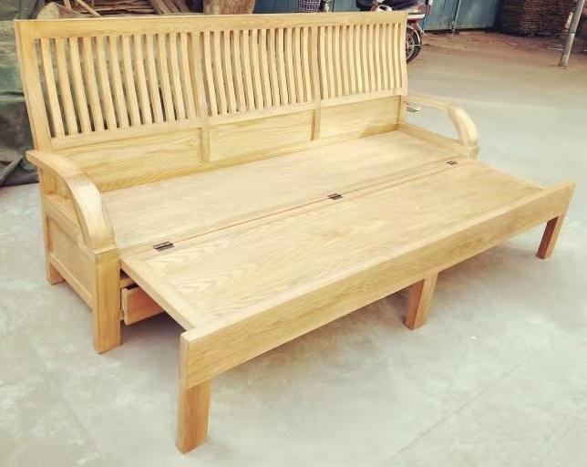 新中式白蜡木三人沙发,含座垫 2