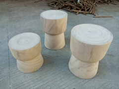 round stool, whole piece of wood