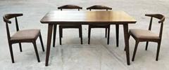 白蜡木餐台,配6张餐椅