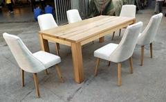 欧式餐台,配6张餐椅