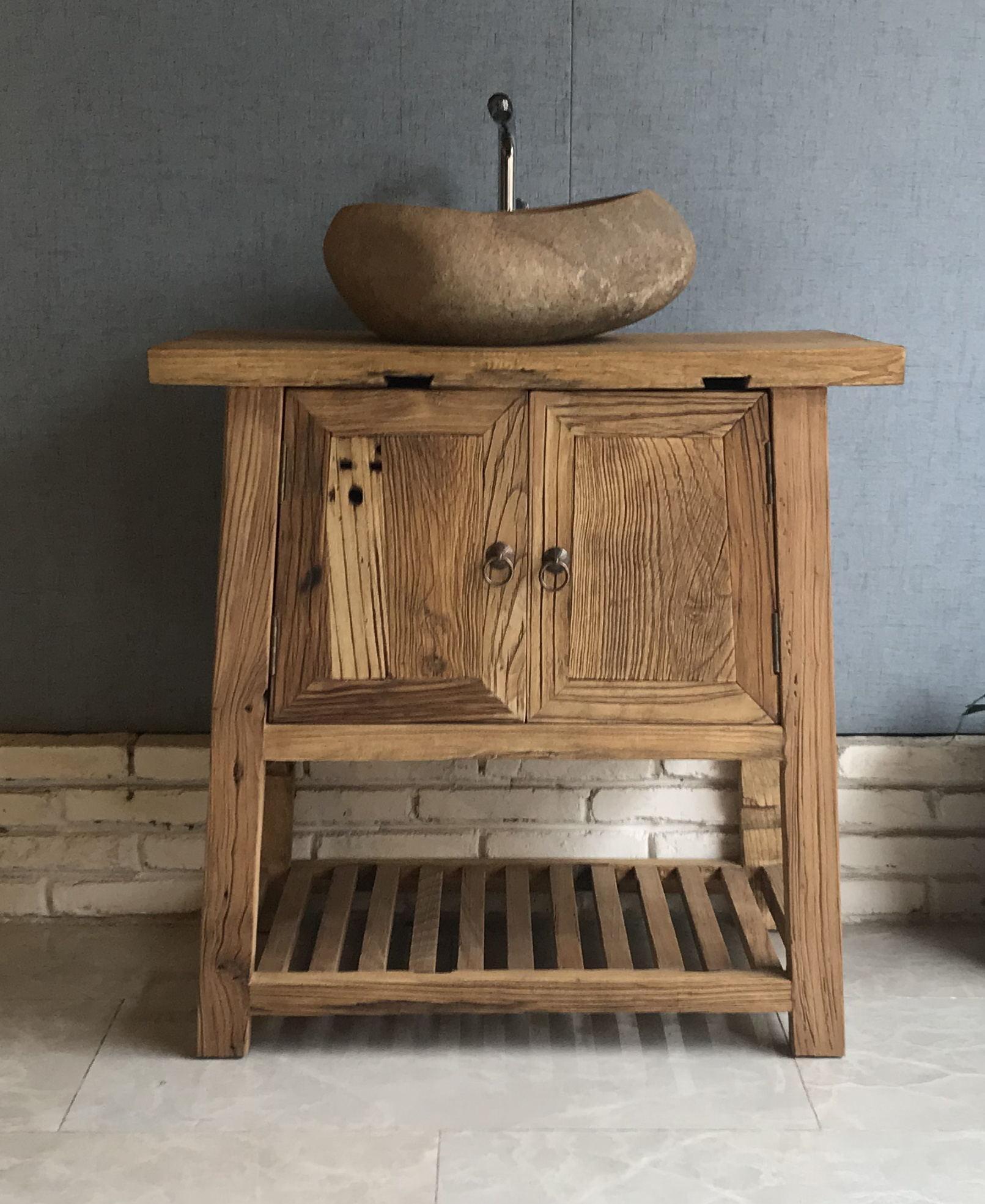 盥洗柜,配石头盆,洗手间家具 1