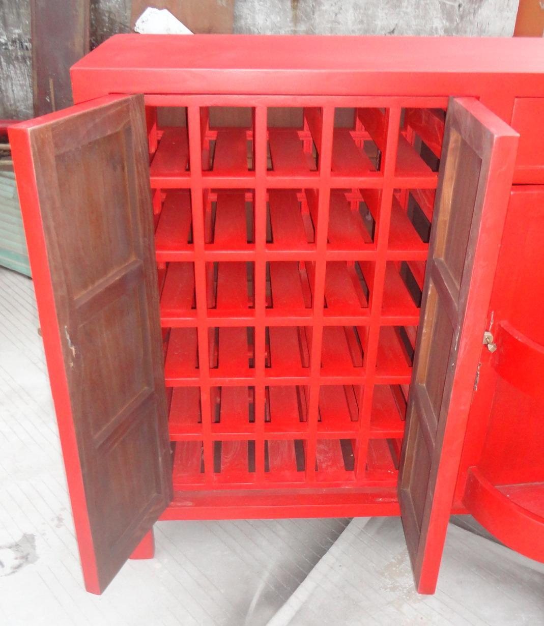 酒柜,含酒架,挂杯架,转动门 2