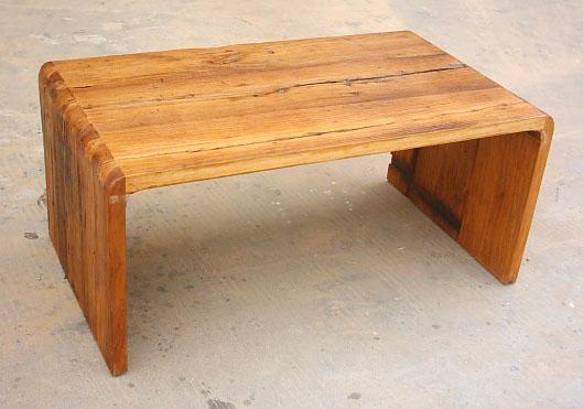 rustic looking furniture,weathered elm coffee table 1