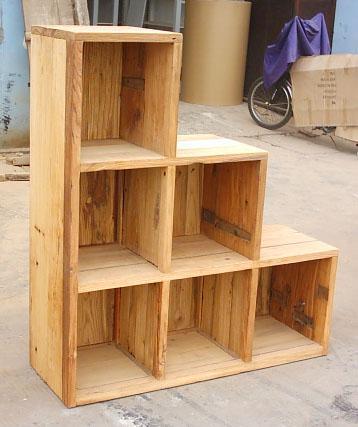 风化榆木家具,步步高陈列柜 1