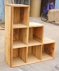 风化榆木家具,步步高陈列柜