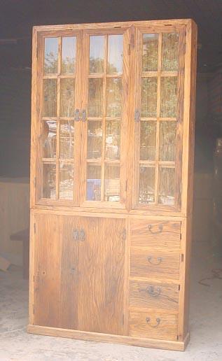 rustic looking recycled elm wood furniture 1