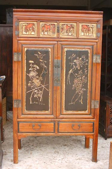 antique  cabinet with carvings 1
