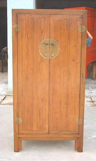 antique reproduction elm wood cabinet 1