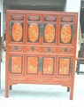 antique reproduction cabinet with