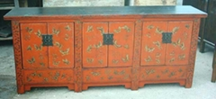 antique reproduction buffet 6doors with drawing