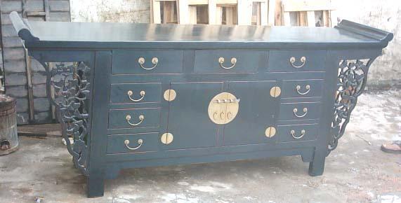antique reproduction altar cabinet 1