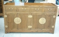 antique reproduction buffet,4drawer 4door