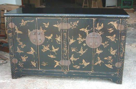 antique reproduction buffet with drawing 1