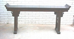 antique looking altar table