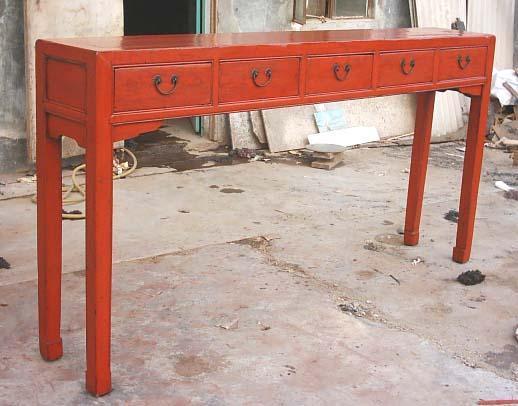 antique reproduction console table