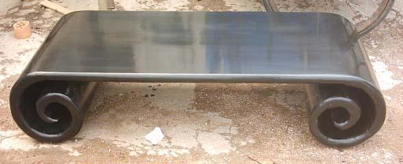 solid elm wood coffee table 1