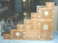 solid elm wood cabinet