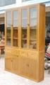 老榆木玻璃门书柜 1