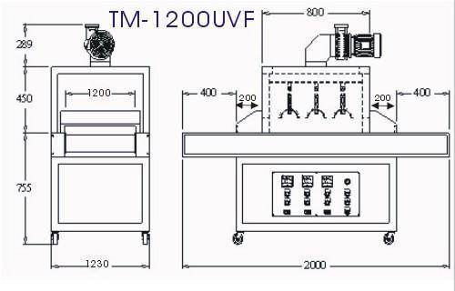UV Drying  machine TM-1200UVF 3