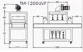 UV Drying  machine TM-1200UVF
