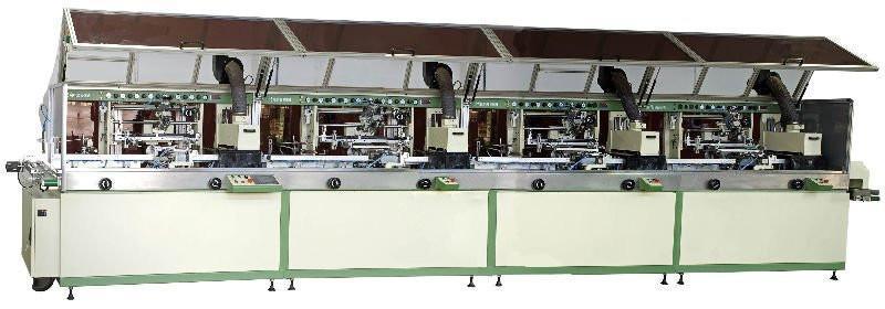Automatic 4-colour cylinder UV  Silk Screen Printer 1