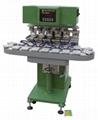 Six-Colour  Conveyor  Tampo  Printer