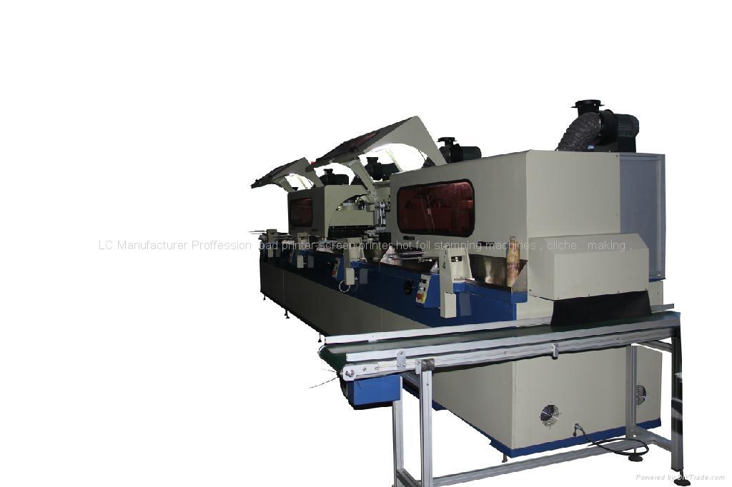 Automatic Single Cylinder UV Screen Printer 1