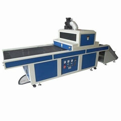 Flat UV curing machine with unloading system