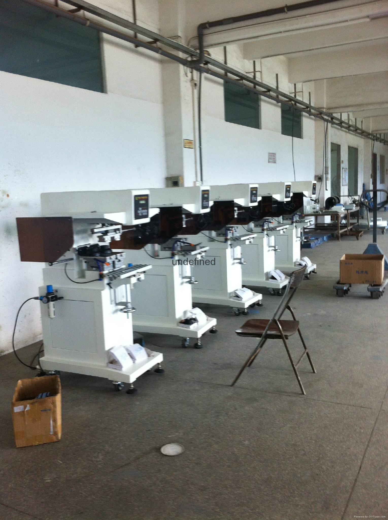 garment neck label 2-color pad printing machine with laser light