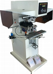 pad shuttle garment neck label 2-color pad printing machine with laser light (Hot Product - 1*)