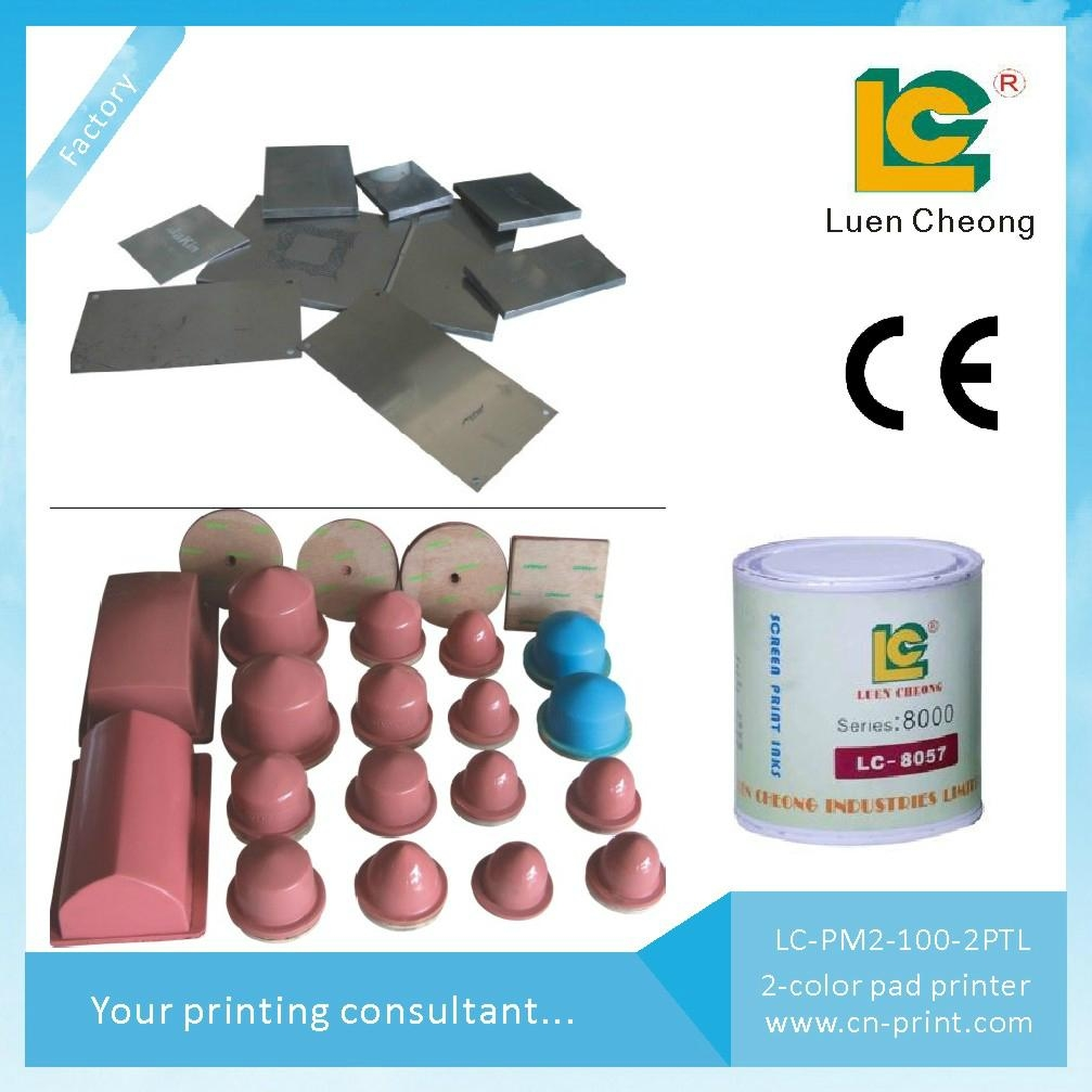 LC-PM2-100T Two Colour Closed Ink Cup Shuttle Pad Printer