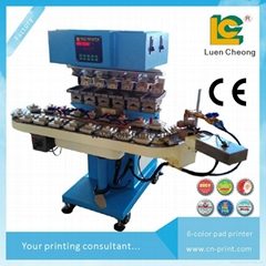 6-colors open ink well pad printing