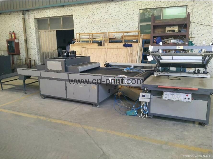 automatic flatbed screen printing machine with UV dryer 1