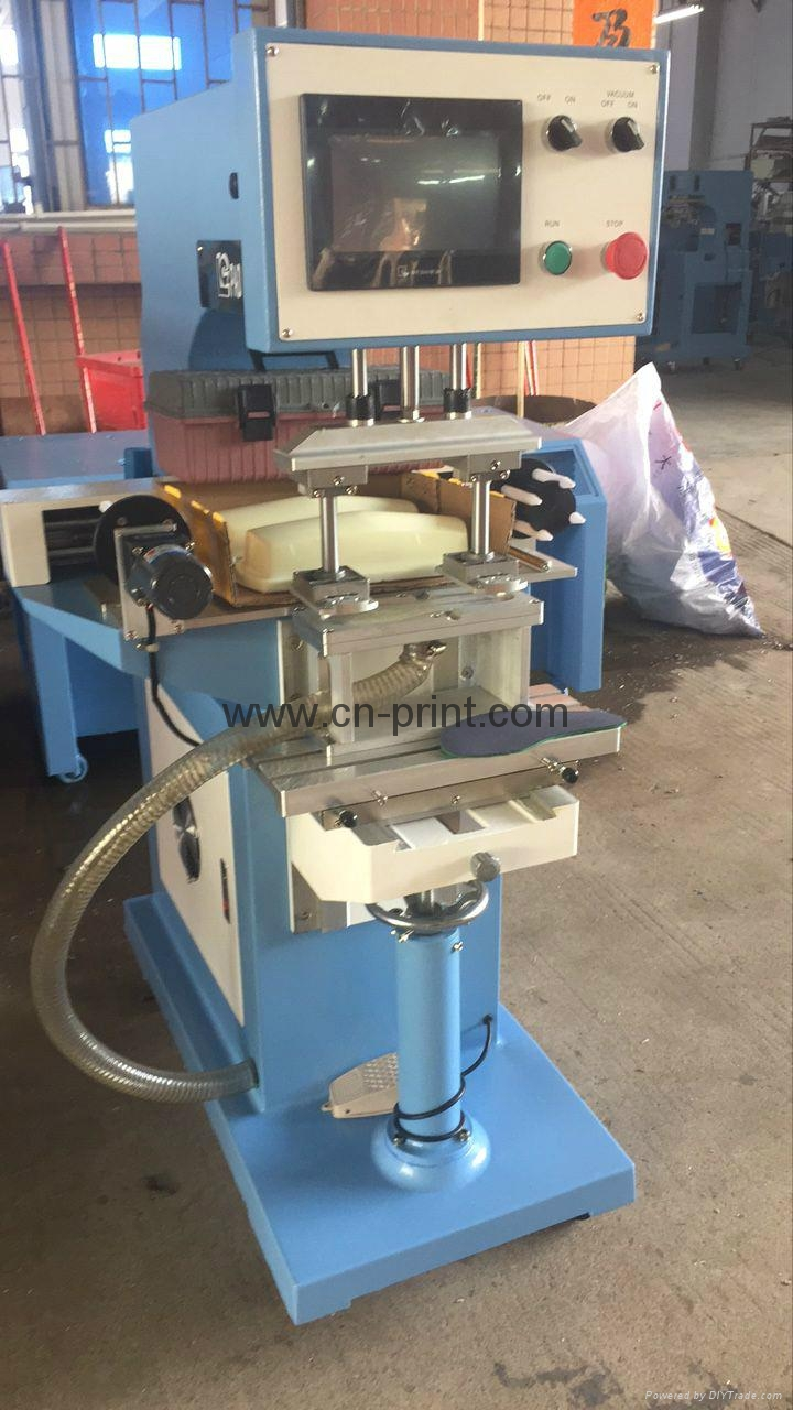 PLC System Transverse Flow tampografia for insole with pad cleaning system 2