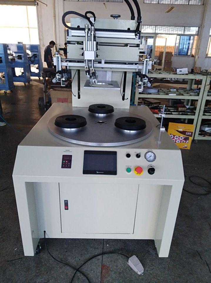 PLC contorl system Flat screen printing machine 3 stations 2