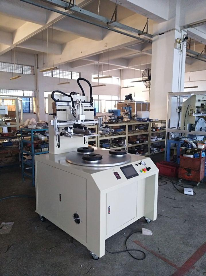 PLC contorl system Flat screen printing machine 3 stations 4