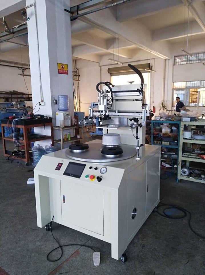 PLC contorl system Flat screen printing machine 3 stations 5