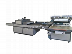 automatic flatbed screen printing machine with UV dryer