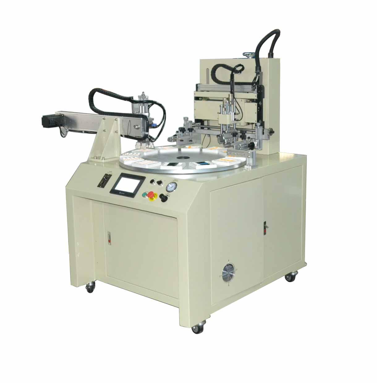 PLC contorl system Flat screen printing machine 3 stations 1