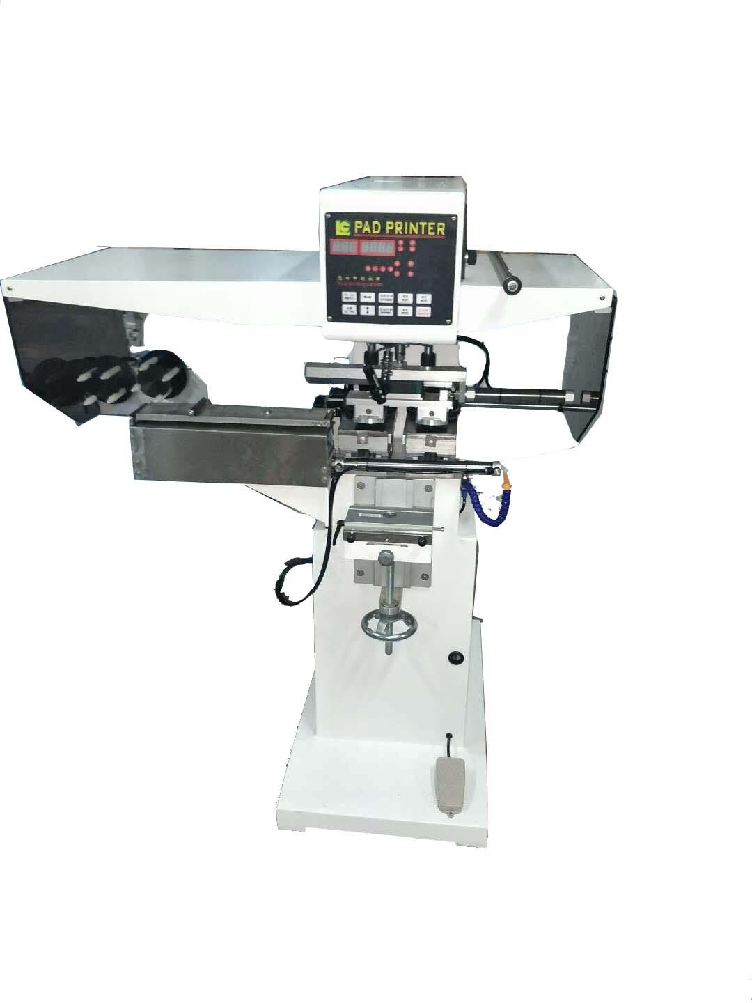pad shuttle garment neck label pad printing machine with pad cleaning system 1
